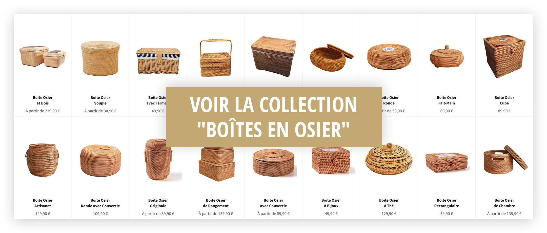 Collection Boite Osier
