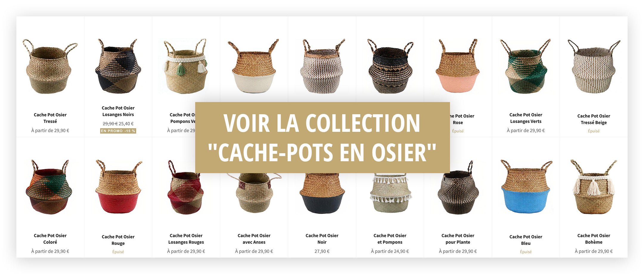 Collection Cache Pot Osier