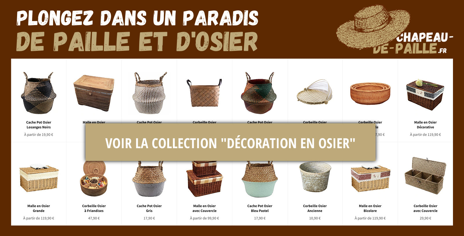 "Collection ""Décoration en Osier"""