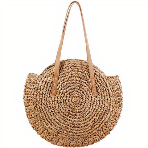 Sac Rond Paille Tendance
