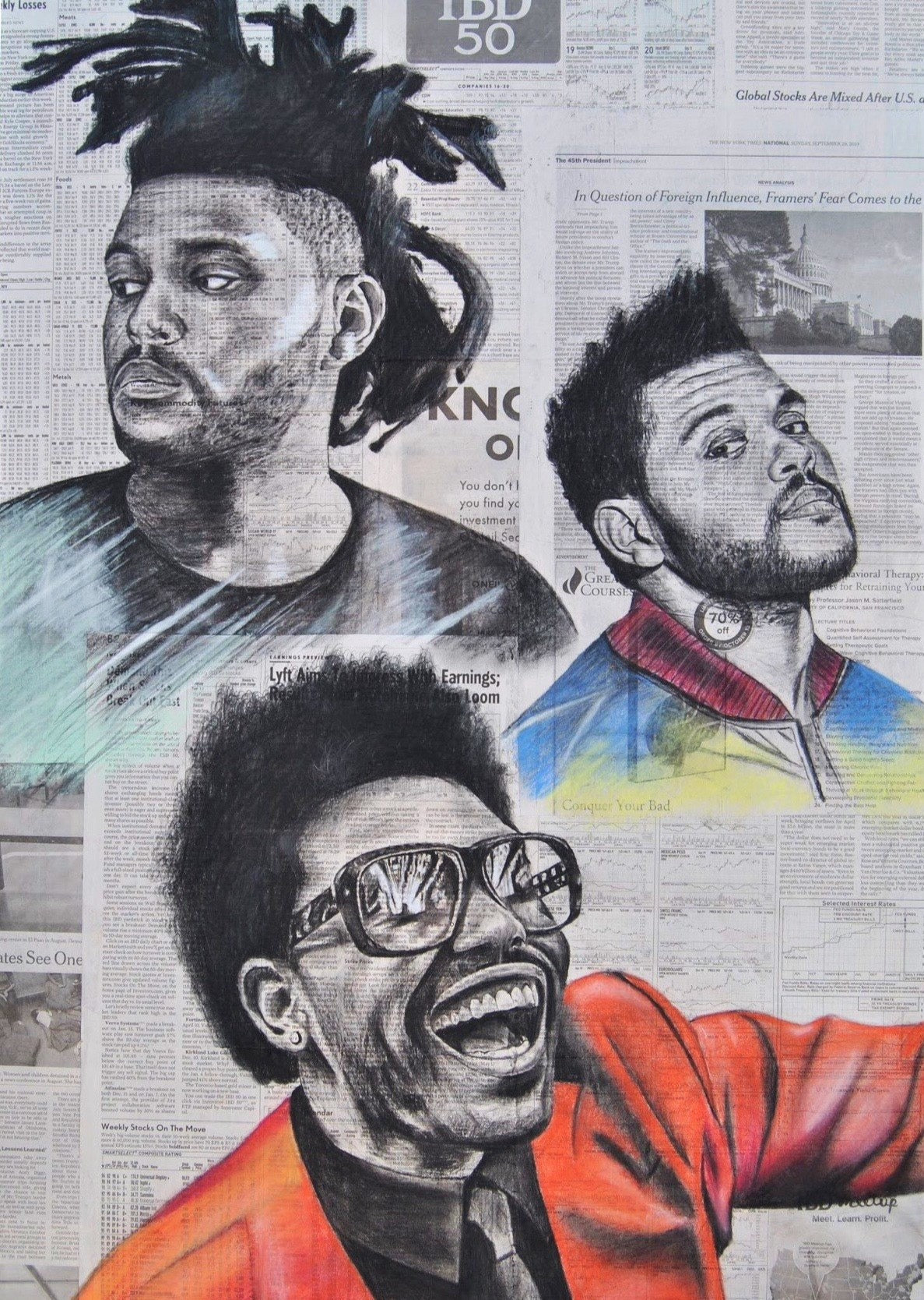 The Weeknd Compilation Print