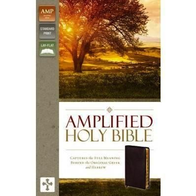 Amplified Bible with Thumb Index Burgundy B/L