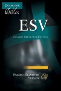 ESV Clarion Reference Bible, Black Calf Split Leather