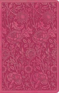 ESV Ultrathin Bible, TruTone, Berry, Floral Design