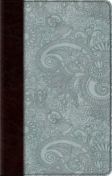 ESV Ultrathin Bible - Trutone, Chocolate/Blue, Garden
