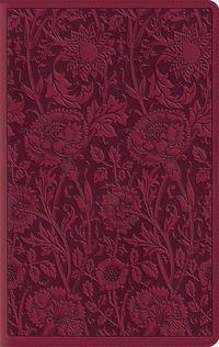 ESV Large Print Compact Bible, Trutone Berry Floral