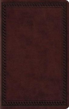 ESV Large Print Value Thinline Mahogany, Border