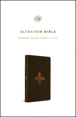 ESV Ultrathin Bible Floral Cross Design