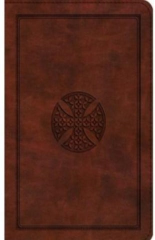 ESV: LARGE PRINT COMPACT BIBLE TRUTONE, BROWN, MOSAIC CROSS