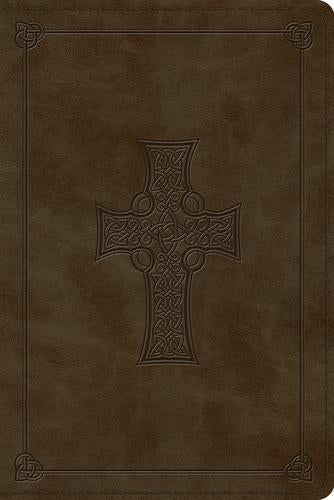 ESV Personal Ref Bible Olive Celtic Cross Design