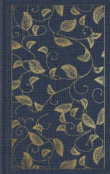 ESV Student Study Bible: Cloth over Board, Navy, Vine Design