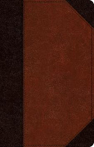 ESV Single Column Thinline Bible: TruTone®, Brown/Cordovan, Portfolio Design