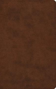 ESV Large Print Thinline Reference Bible, Trutone, Brown