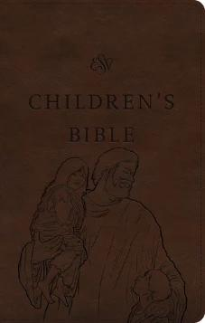 ESV Children's Bible, Trutone, Brown, Let the Children Come Design