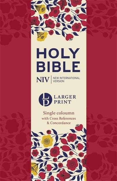 NIV Holy Bible Large Print - Single-column with Cross-References & Concordance