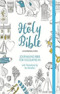 NIV Journalling Bible for Colouring In: With unlined margins and illustrations to colour in