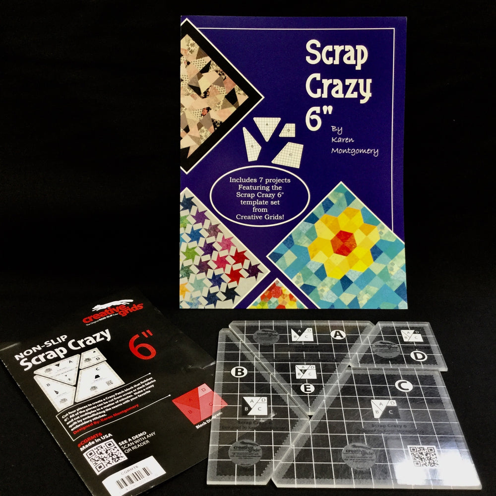 "Scrap Crazy 6"" Templates & Book 1"