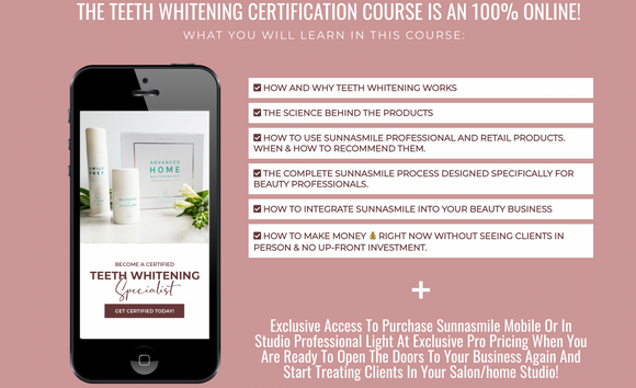 Teeth Whitening Specialist Certification and FREE Home Whitening Kit