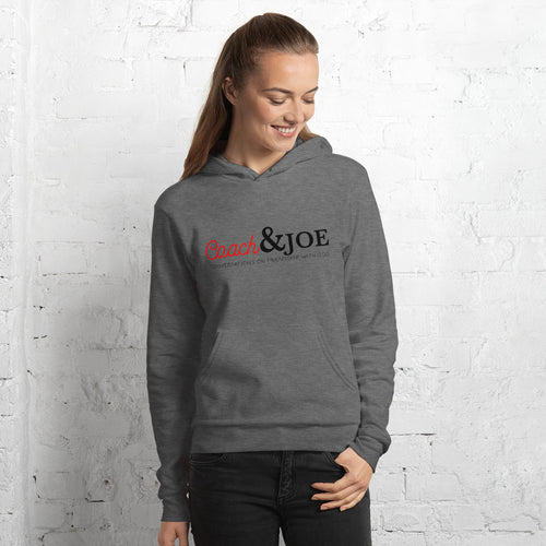 Premium Coach & Joe Logo Unisex Hoodie (Heather Gray)