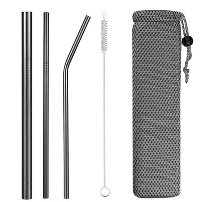hybrid metal straws black