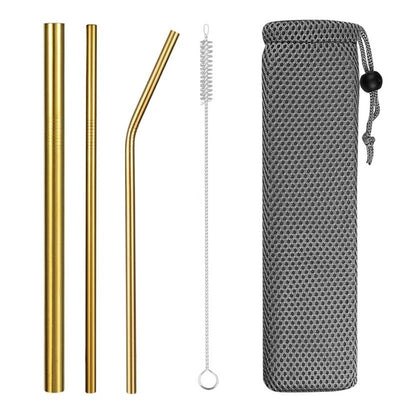 hybrid metal straws golden