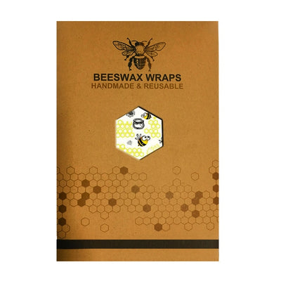 honey bee pattern beeswax wrap
