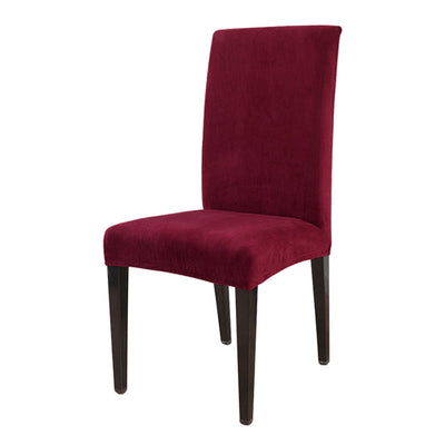 Burgundy color chair cover