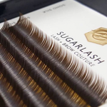 Mixed Tray Brown Silk Lashes  (7-13mm)