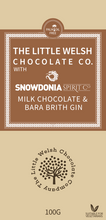 Load image into Gallery viewer, MILK CHOCOLATE & BARA BRITH GIN - The Little Welsh Chocolate Company