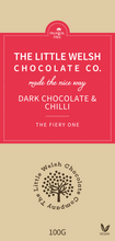 Load image into Gallery viewer, DARK CHOCOLATE & CHILLI - The Little Welsh Chocolate Company
