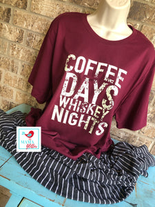 Coffee Days And Whiskey Nights Pajamas