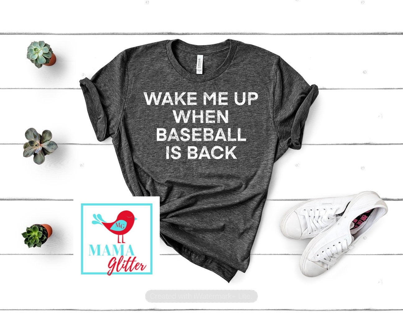 Wake Me Up When Baseball is Back-Block Font