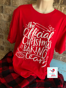 The Official Christmas Baking Team Pajamas