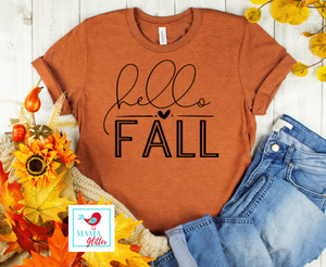 HELLO FALL-BLACK PRINT