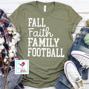 FALL, FAITH, FAMILY, FOOTBALL