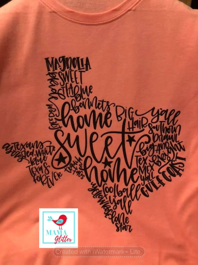 Texas Wise Words-Black Print