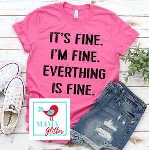 IT'S FINE, I'M FINE - BLACK BLOCK PRINT