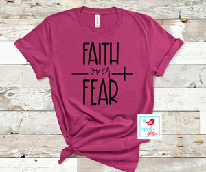 Faith Over Fear - Black Print