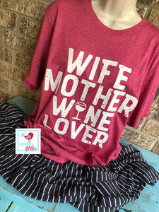 Wife, Mother, Wine Lover Pajamas