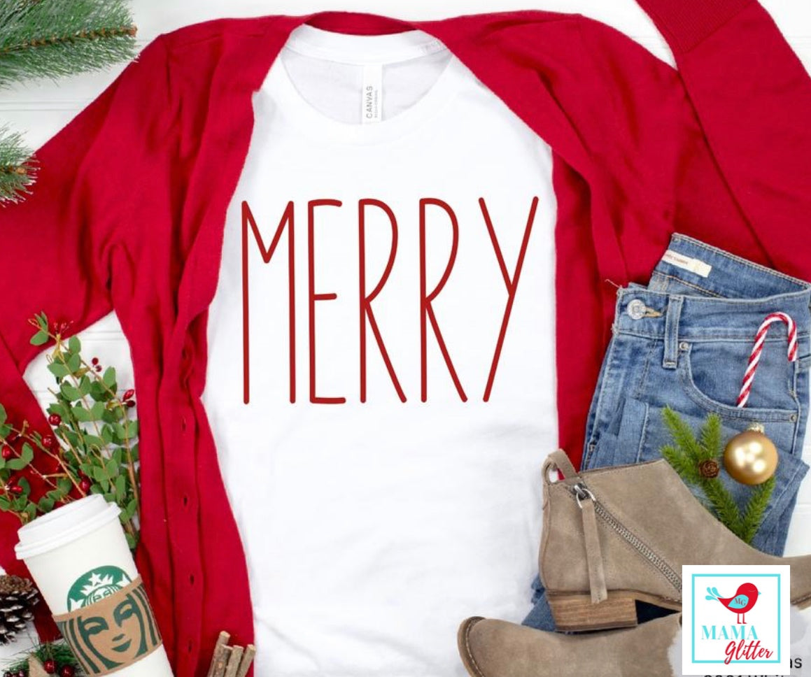 Merry - Red Print