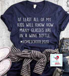 #Homeschool 2020-How Many Glasses Are In A Bottle Of Wine