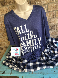 Fall Faith Family Football Pajamas