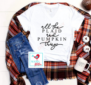All the Plaid and Pumpkin Things - Black Print