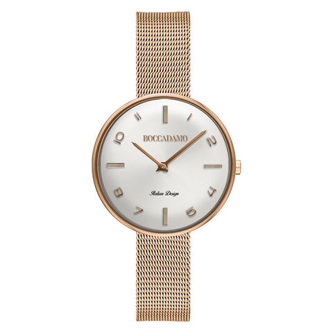 Clock knitted mesh with pearl dial