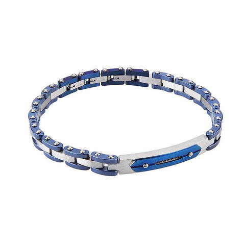 Related product : Modular Bracelet with chip in blue ceramic tiles and zircons