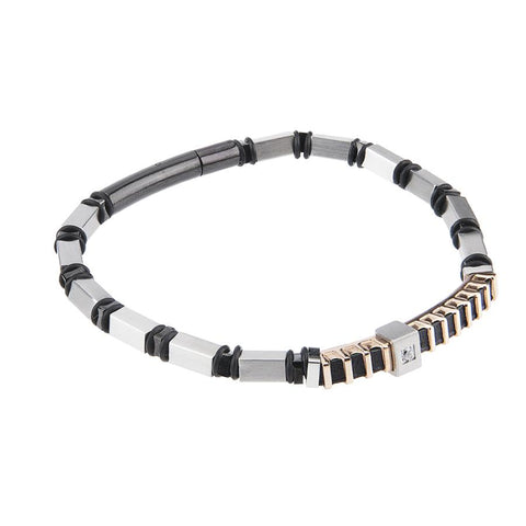 Related product : Steel Bracelet and zircon nestled