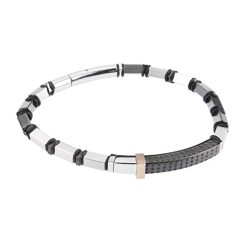 Related product : Steel Bracelet and central plate in PVD