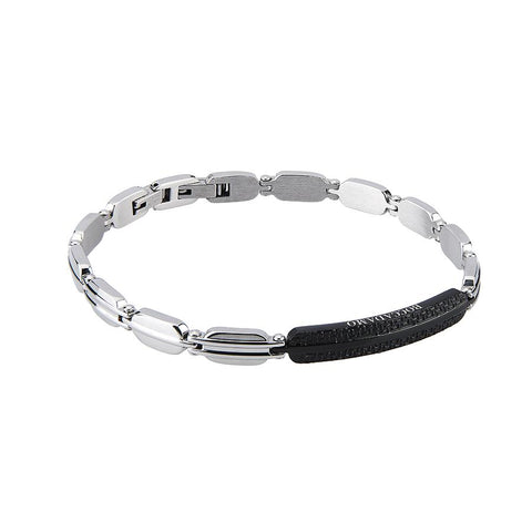 Related product : The semirigid Bracelet in steel with central black PVD