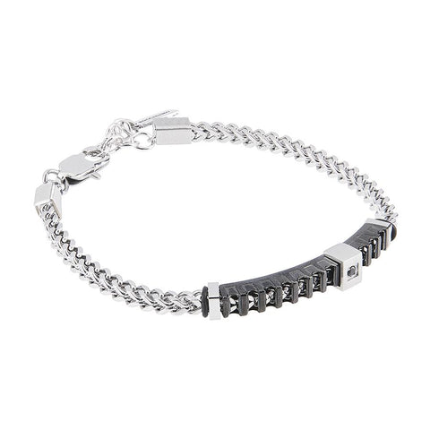Related product : Bracelet links intertwined and zircon