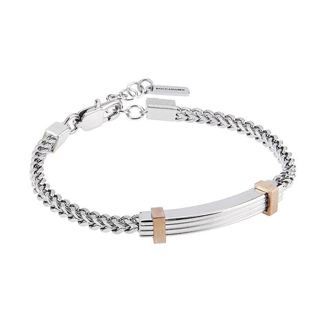 Related product : Steel Bracelet with links interwoven and inserts rosati
